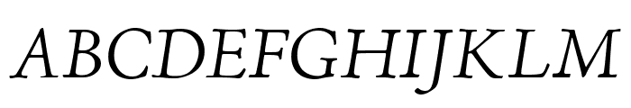 Adobe Jenson Pro Light Italic Subhead Font UPPERCASE