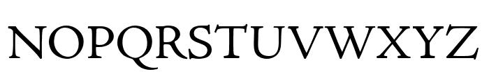 Adobe Jenson Pro Regular Font UPPERCASE