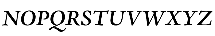 Adobe Jenson Pro Semibold Italic Display Font UPPERCASE