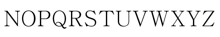 Adobe Myungjo Std M Font UPPERCASE