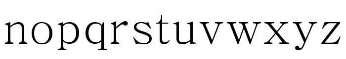 Adobe Myungjo Std M Font LOWERCASE