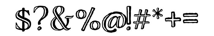Adorn Engraved Expanded Regular Font OTHER CHARS