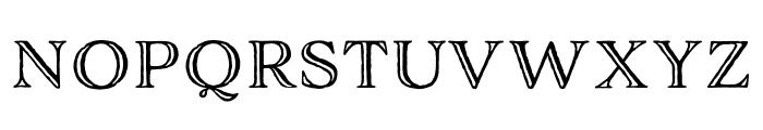 Adorn Engraved Expanded Regular Font UPPERCASE