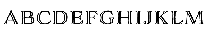 Adorn Engraved Expanded Regular Font LOWERCASE