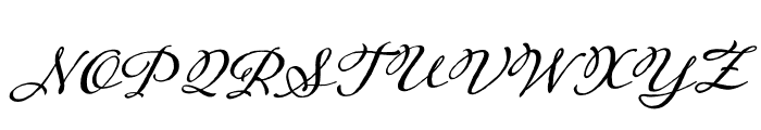 Adorn Serif Regular Font UPPERCASE