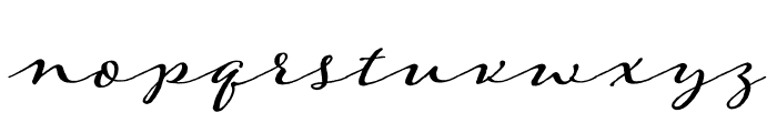 Adorn Solo Regular Font LOWERCASE