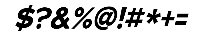 Adrianna Condensed Bold Italic Font OTHER CHARS
