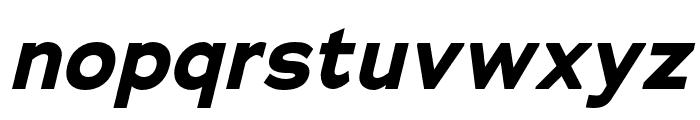 Adrianna Condensed Bold Italic Font LOWERCASE