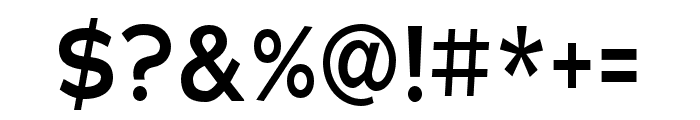 Adrianna Condensed DemiBold Font OTHER CHARS