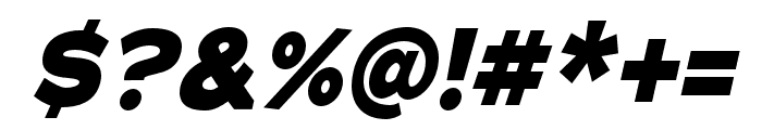 Adrianna Condensed ExtraBold Italic Font OTHER CHARS