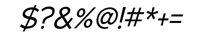 Adrianna Condensed Italic Font OTHER CHARS