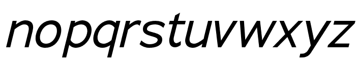 Adrianna Condensed Italic Font LOWERCASE