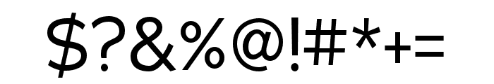 Adrianna Condensed Regular Font OTHER CHARS