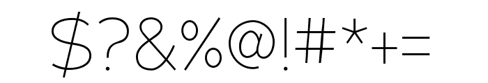 Adrianna Condensed Thin Font OTHER CHARS