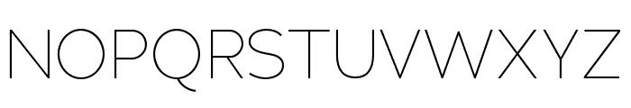 Adrianna Condensed Thin Font UPPERCASE