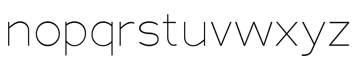 Adrianna Condensed Thin Font LOWERCASE