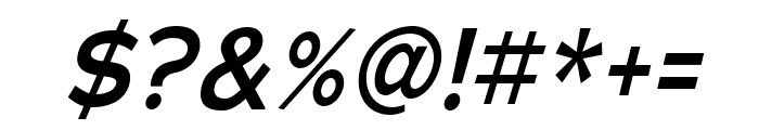 Adrianna Extended DemiBold Italic Font OTHER CHARS
