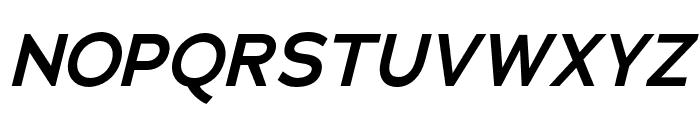 Adrianna Extended DemiBold Italic Font UPPERCASE