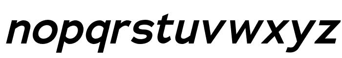 Adrianna Extended DemiBold Italic Font LOWERCASE
