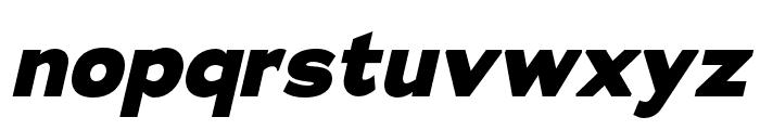 Adrianna Extended ExtraBold Italic Font LOWERCASE
