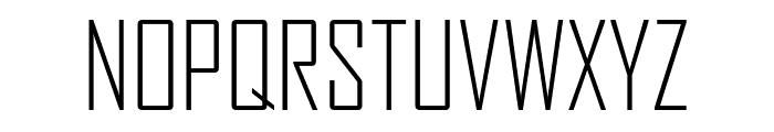 AgencyFB LightCompressed Font UPPERCASE