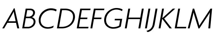 Agenda LightExtraCondItalic Font UPPERCASE
