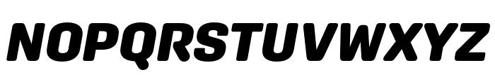 Aglet Sans Black Italic Font UPPERCASE