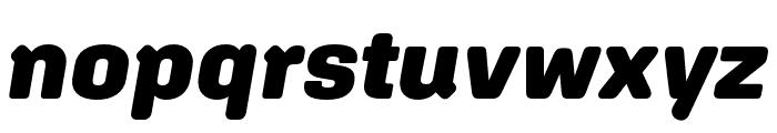Aglet Sans Black Italic Font LOWERCASE