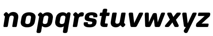 Aglet Sans Bold Italic Font LOWERCASE