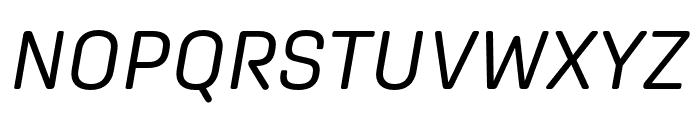 Aglet Sans Italic Font UPPERCASE