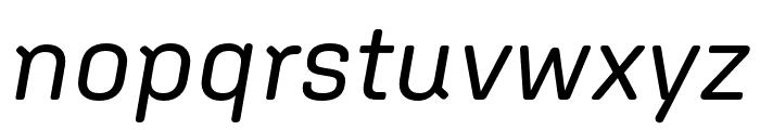 Aglet Sans Italic Font LOWERCASE