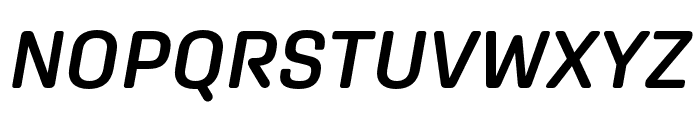 Aglet Sans Semibold Italic Font UPPERCASE