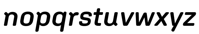 Aglet Sans Semibold Italic Font LOWERCASE