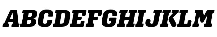 Aglet Slab Black Italic Font UPPERCASE