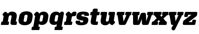 Aglet Slab Black Italic Font LOWERCASE