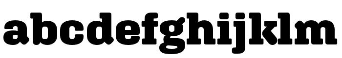 Aglet Slab Black Font LOWERCASE