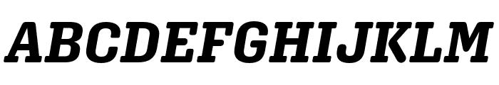 Aglet Slab Bold Italic Font UPPERCASE