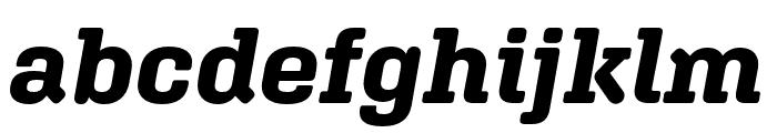 Aglet Slab Bold Italic Font LOWERCASE