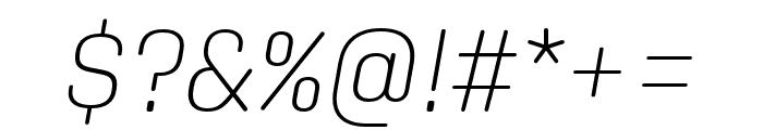 Aglet Slab Extra Light Italic Font OTHER CHARS