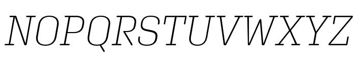 Aglet Slab Extra Light Italic Font UPPERCASE