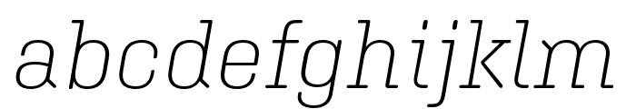 Aglet Slab Extra Light Italic Font LOWERCASE