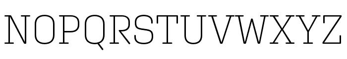 Aglet Slab Extra Light Font UPPERCASE