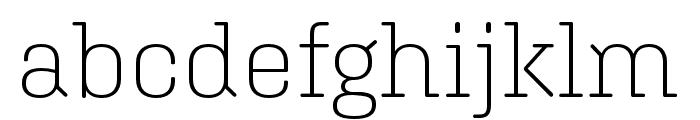 Aglet Slab Extra Light Font LOWERCASE