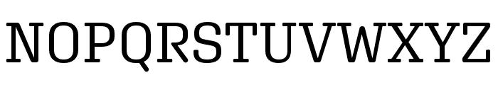 Aglet Slab Regular Font UPPERCASE