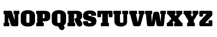 Aglet Slab Ultra Font UPPERCASE