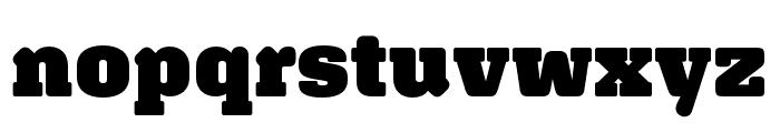 Aglet Slab Ultra Font LOWERCASE