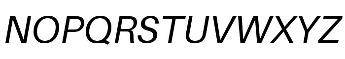 Aileron Italic Font UPPERCASE