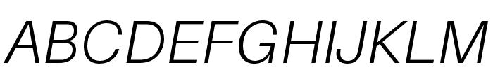 Aileron Light Italic Font UPPERCASE