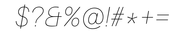 Aileron UltraLight Italic Font OTHER CHARS