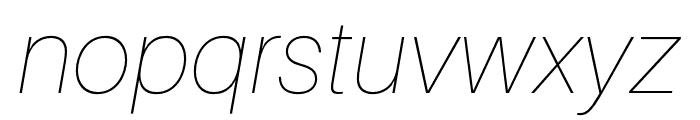 Aileron UltraLight Italic Font LOWERCASE
